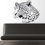 Leopard Head Wall Sticker