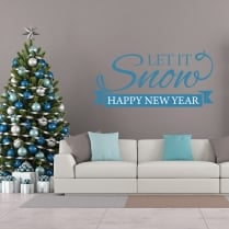 Let It Snow Printed Wall Sticker