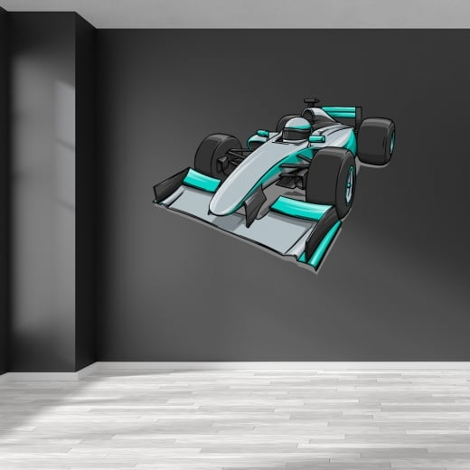 Lewis Hamilton Mercedes Racing Car Printed Wall Sticker