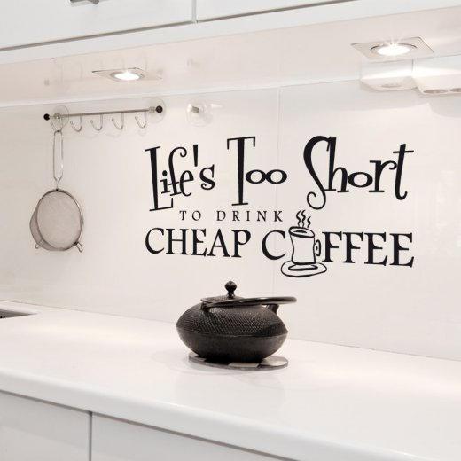 Wall Chimp Life`s Too Short Wall Sticker Quote