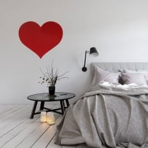 Limited Edition Red Glitter Heart Wall Sticker