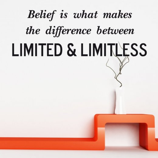 Wall Chimp Limited & Limitless Wall Sticker Quote
