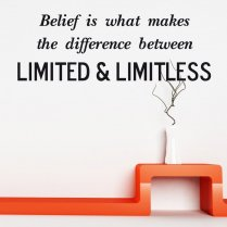 Limited & Limitless Wall Sticker Quote