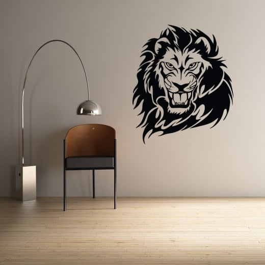 Wall Chimp Lion Head Wall Sticker