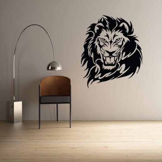 Wall Chimp Lion Head Wall Sticker