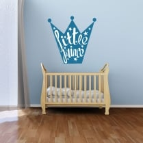 Little Prince Crown Printed Wall Sticker