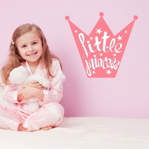 Wall Chimp Little Princess Crown Printed Wall Sticker