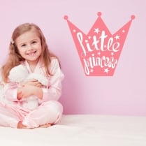 Little Princess Crown Printed Wall Sticker