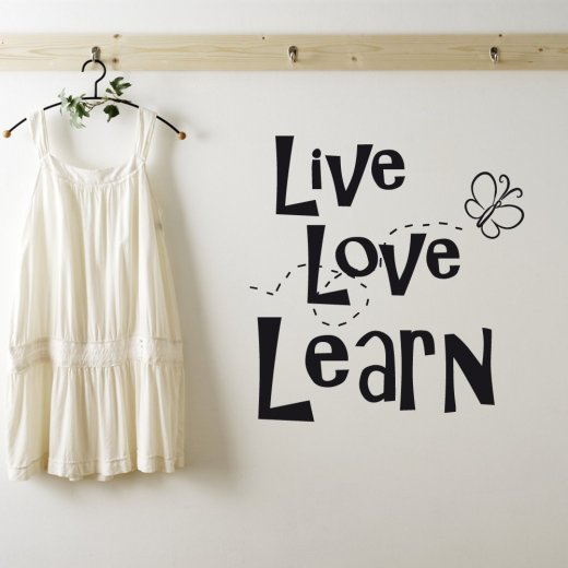 Wall Chimp Live, Love & Learn Wall Sticker Quote