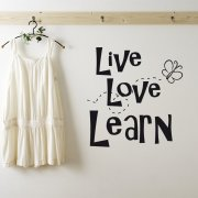 Live, Love & Learn Wall Sticker Quote
