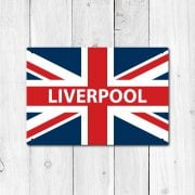 Liverpool Great Britain Flag Sign