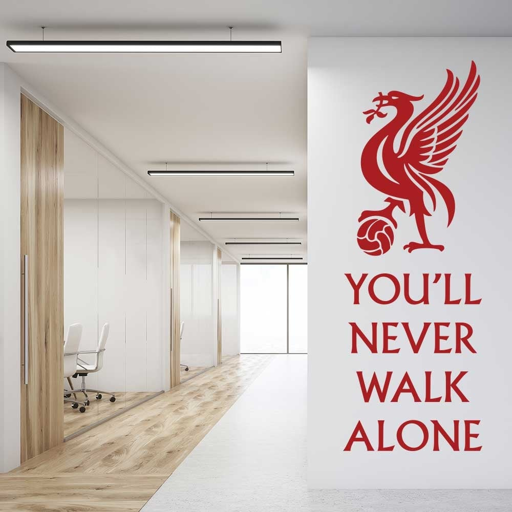 Wall chimp liverpool youll never walk alone wall sticker
