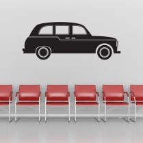 London Black Cab Taxi Wall Sticker