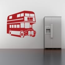 London Double Decker Bus Wall Sticker