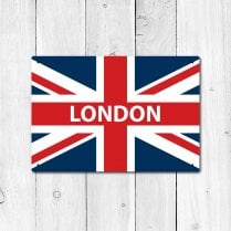 London Great Britain Flag Sign