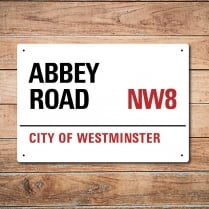 London Metal Street Sign - Abbey Road