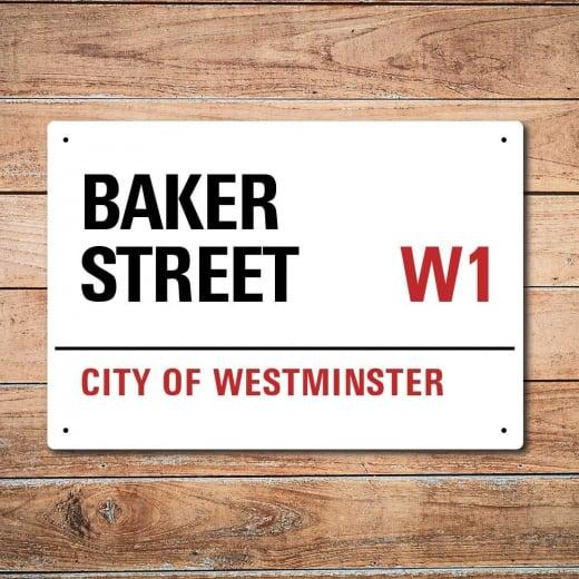 Wall Chimp London Metal Street Sign - Baker Street