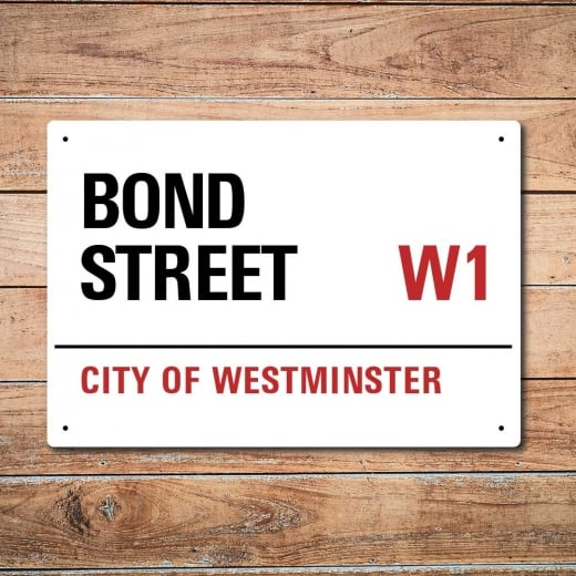 Wall Chimp London Metal Street Sign - Bond Street