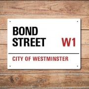 London Metal Street Sign - Bond Street