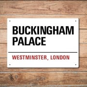 London Metal Street Sign - Buckingham Palace
