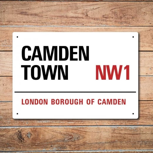 Wall Chimp London Metal Street Sign - Camden Town