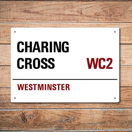 Wall Chimp London Metal Street Sign - Charing Cross
