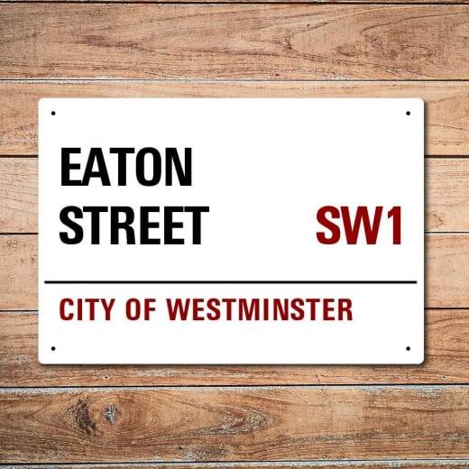 Wall Chimp London Metal Street Sign - Eaton Street