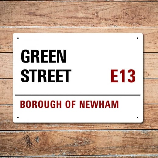 Wall Chimp London Metal Street Sign - Green Street
