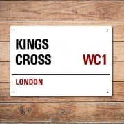 London Metal Street Sign - Kings Cross
