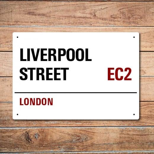Wall Chimp London Metal Street Sign - Liverpool Street