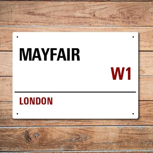 Wall Chimp London Metal Street Sign - Mayfair