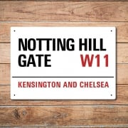 London Metal Street Sign - Notting Hill Gate