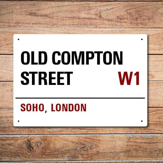 Wall Chimp London Metal Street Sign - Old Compton Street