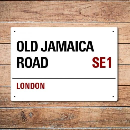 Wall Chimp London Metal Street Sign - Old Jamaica Road