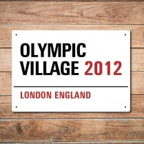 London Metal Street Sign - Olympic Village