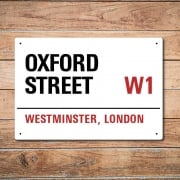 London Metal Street Sign - Oxford Street