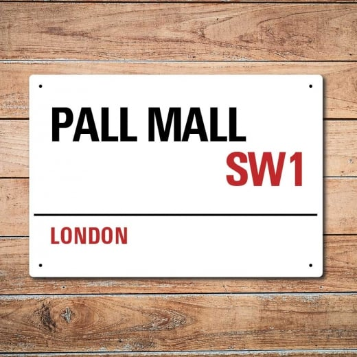 Wall Chimp London Metal Street Sign - Pall Mall