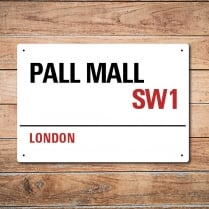 London Metal Street Sign - Pall Mall