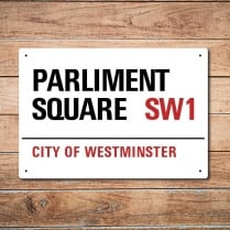 London Metal Street Sign - Parliament Square