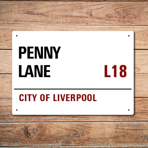 Wall Chimp London Metal Street Sign - Penny Lane Liverpool