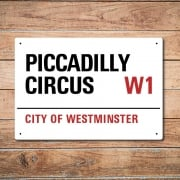 London Metal Street Sign - Piccadilly Circus