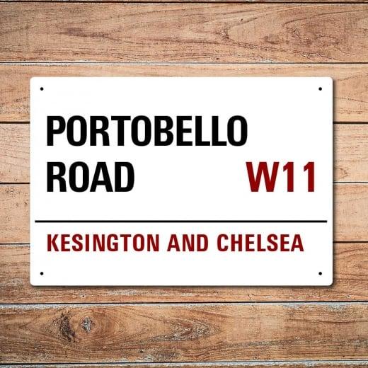 Wall Chimp London Metal Street Sign - Portobello Road