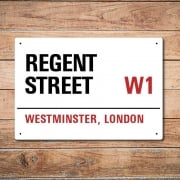 London Metal Street Sign - Regent Street
