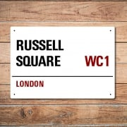 London Metal Street Sign - Russell Square