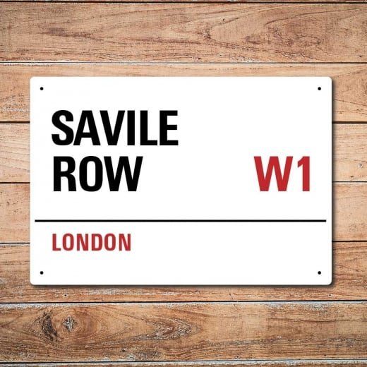 Wall Chimp London Metal Street Sign - Savile Row