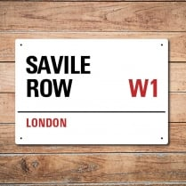 London Metal Street Sign - Savile Row