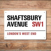 London Metal Street Sign - Shaftsbury Avenue