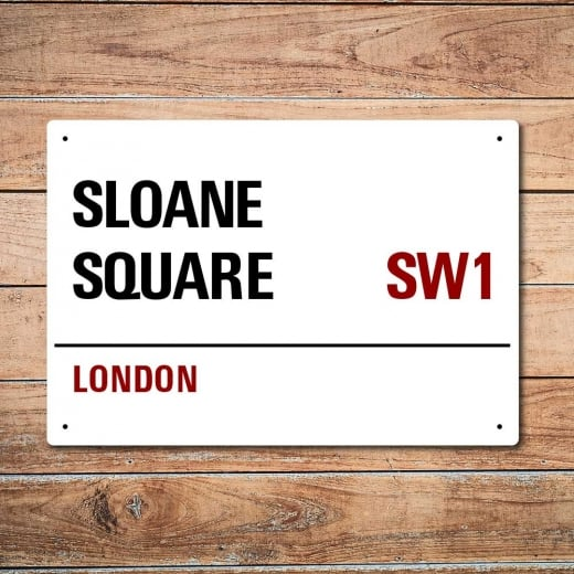 Wall Chimp London Metal Street Sign - Sloane Square
