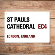 London Metal Street Sign - St Pauls Cathedral