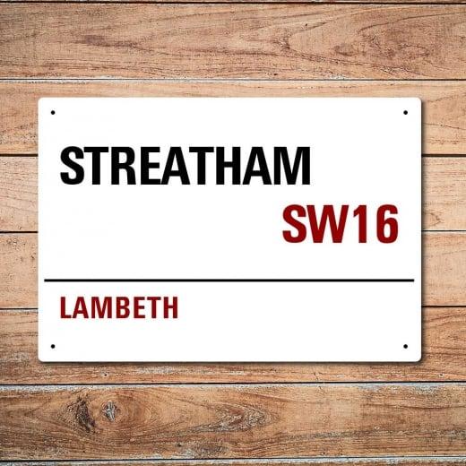Wall Chimp London Metal Street Sign - Streatham